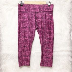 BCG pink black capri athletic leggings